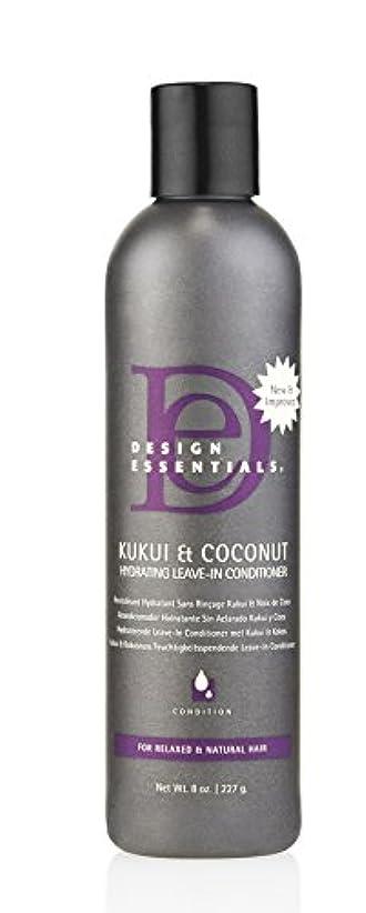 腐食する信号服を洗うDesign Essentials ククイ&ココナッツハイドは、リーブインコンディショナー、リラックスしたナチュラルヘア-8オンスのために強化。 8オンス
