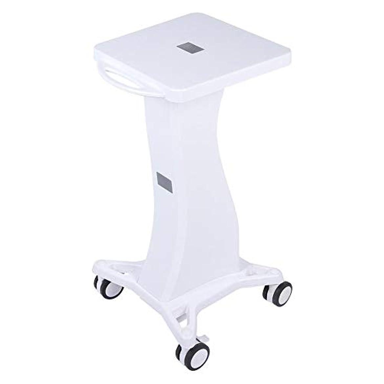 折るはっきりしない重荷サロン使用のためのハンドル台座ローリングカートホイールスタンド付き美容トロリー美容ツール
