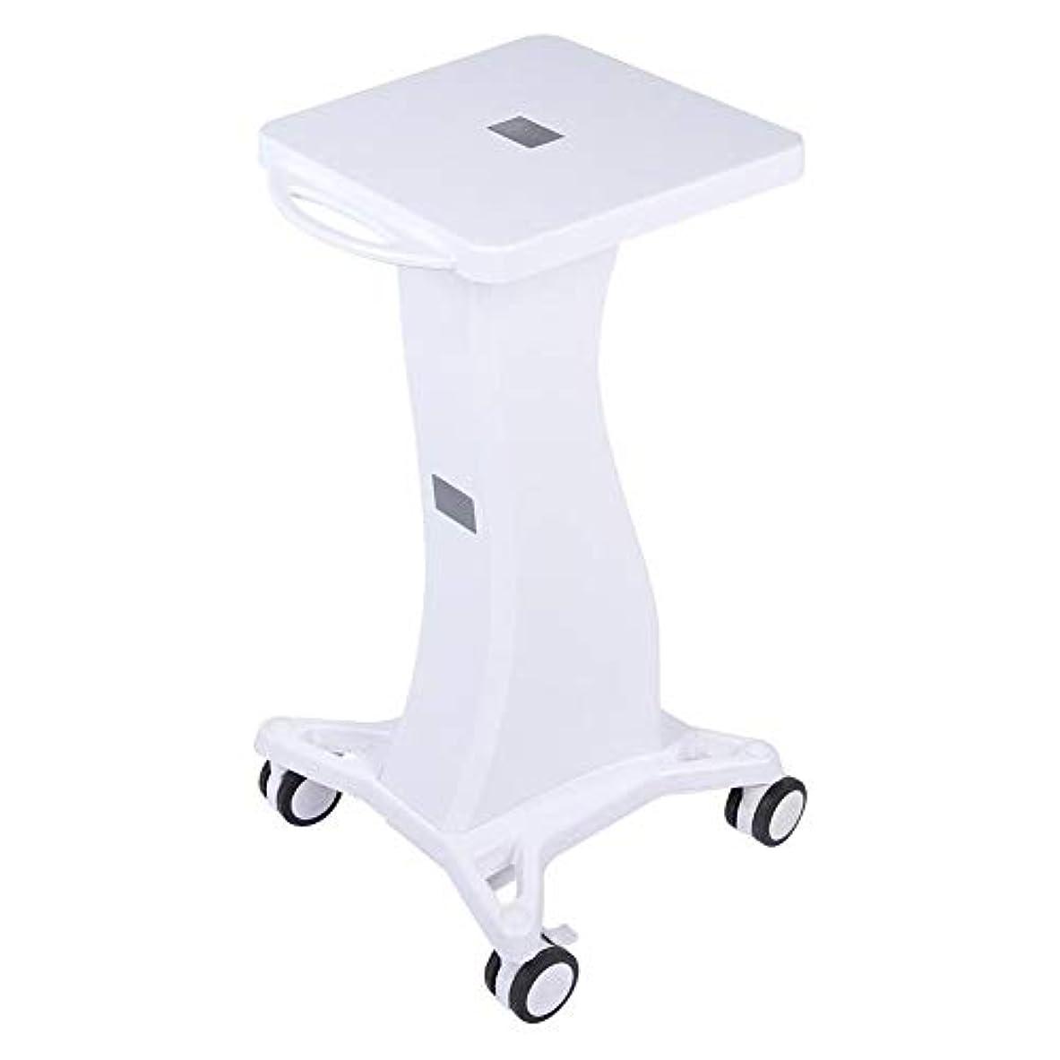 未亡人ビジュアルテーマサロン使用のためのハンドル台座ローリングカートホイールスタンド付き美容トロリー美容ツール