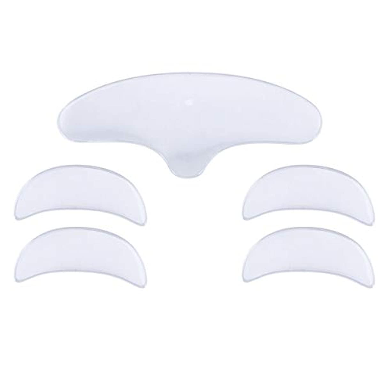 Lurrose 1セットシリコーンアンチシワパッチアンチシワ前頭アイパッド(女性用1個入り+ 2ペアアイパッド)