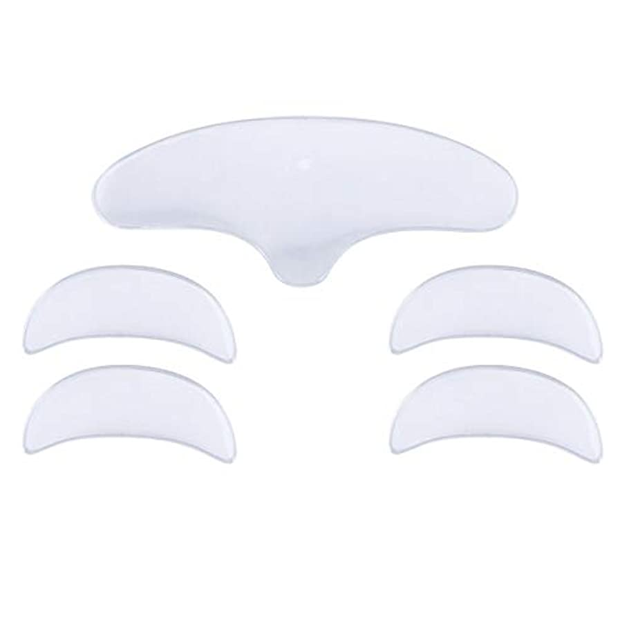 インペリアル家具キッチンLurrose 1セットシリコーンアンチシワパッチアンチシワ前頭アイパッド(女性用1個入り+ 2ペアアイパッド)