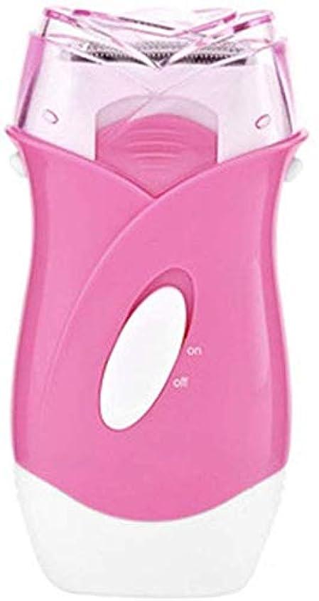 ほんの商人実現可能HABAIS 脱毛器家庭用、持続的ななめらかな肌美容機器用電気ミニ無痛脱毛器ワイヤレスウェットとドライの脱毛器,Pink_9.8x2.2x3.5CM