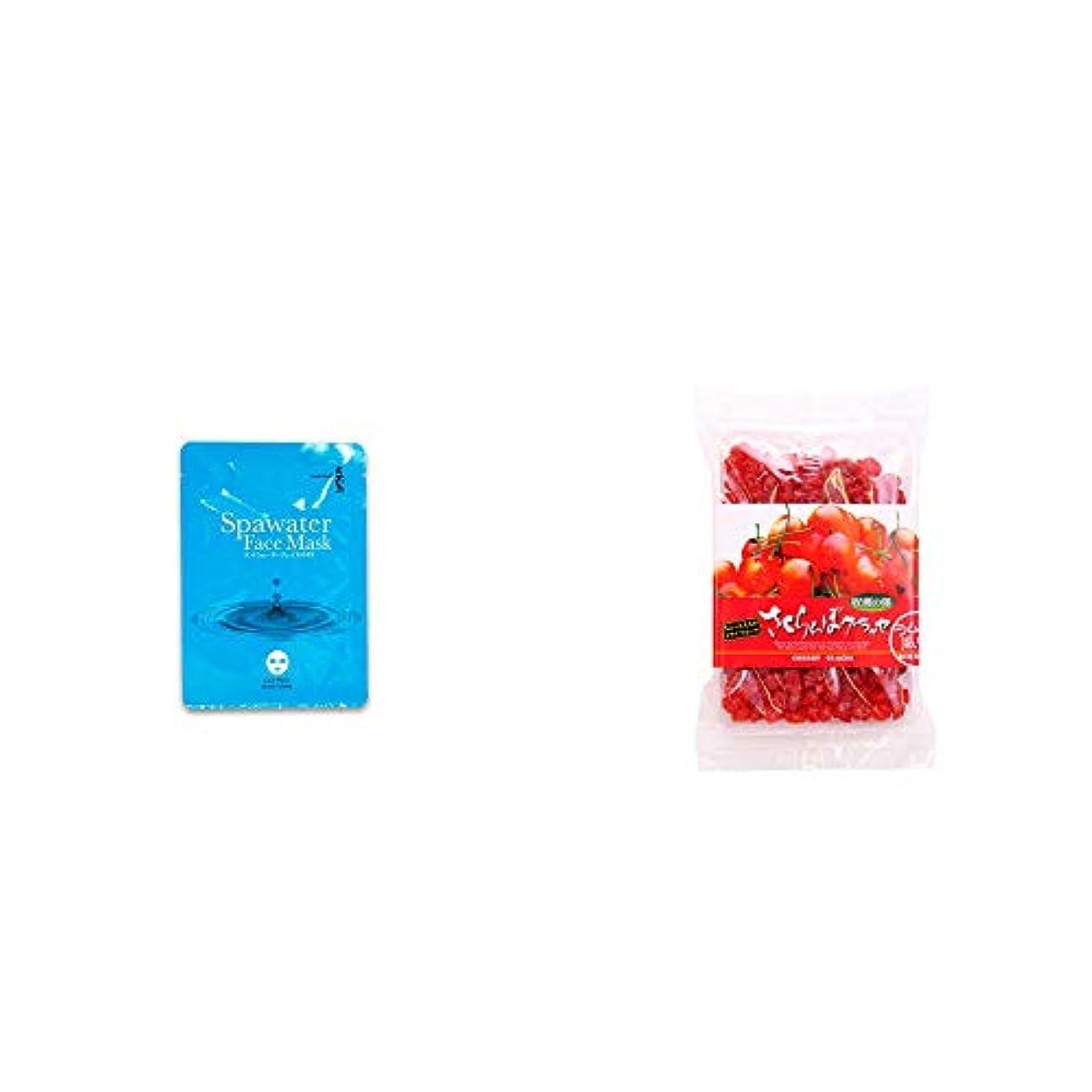 シャッフル逃げるグロー[2点セット] ひのき炭黒泉 スパウォーターフェイスマスク(18ml×3枚入)?収穫の朝 さくらんぼグラッセ ラム酒風味(180g)