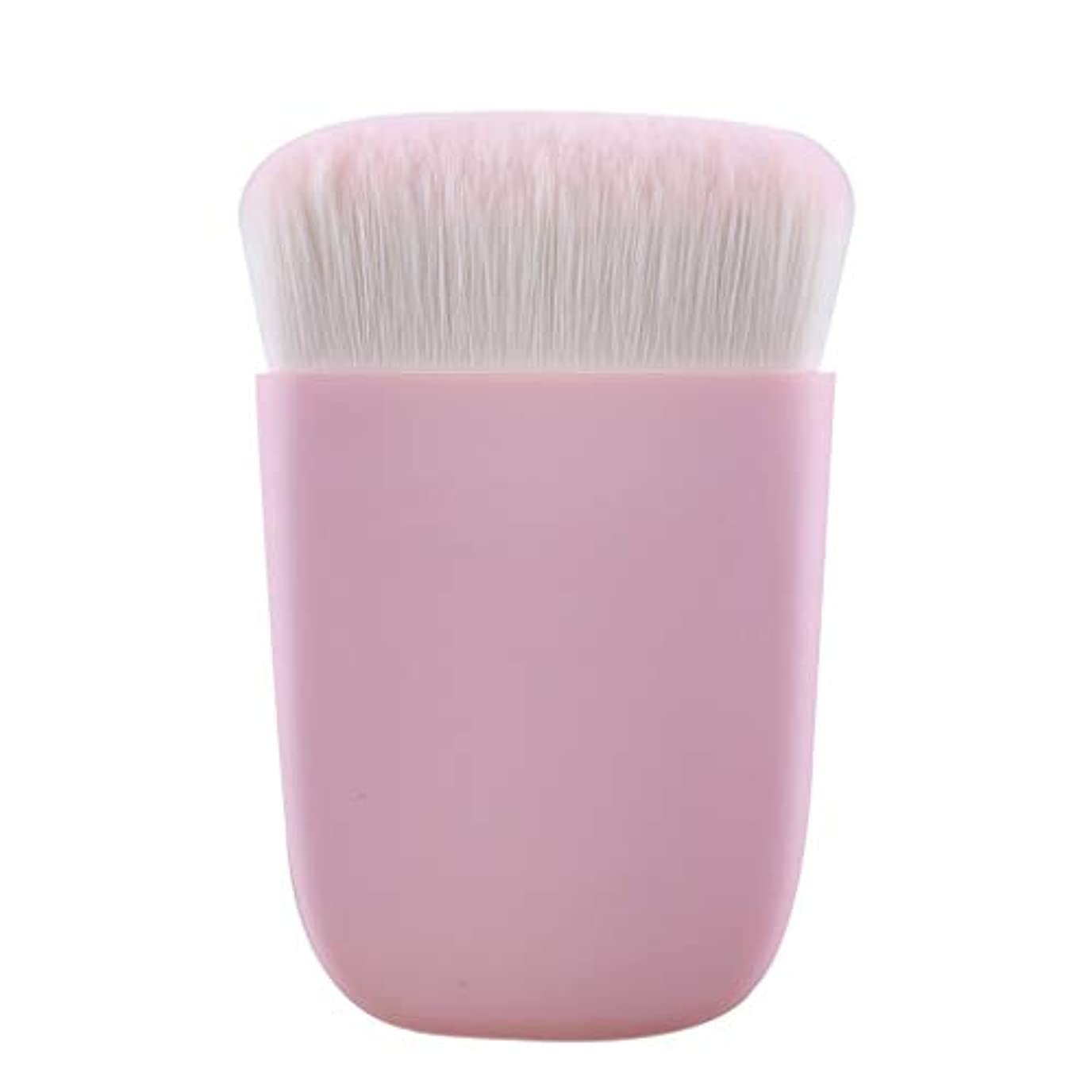 インディカネイティブ寮LLKOZZ ハロウィンメイクブラシ多機能フラットブラシポータブルルースパウダー赤面修理能力初心者美容ブラシ (Color : Pink)