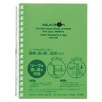 (業務用セット) リヒトラブ AQUA DROPs ツイストリング・ノート A6判 N-1664-6 黄緑 1冊入 【×10セット】