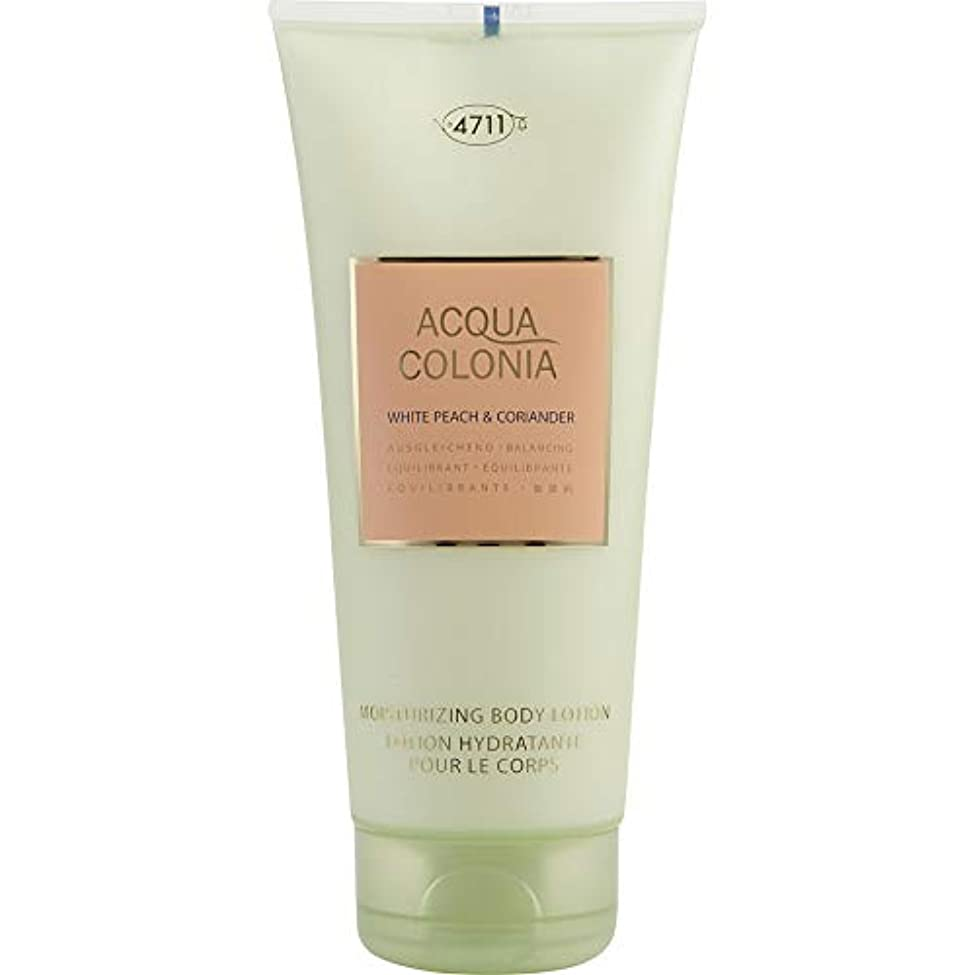 暴露ホスト誇大妄想4711 Acqua Colonia White Peach & Coriander Moisturizing Body Lotion 200ml/6.8oz並行輸入品