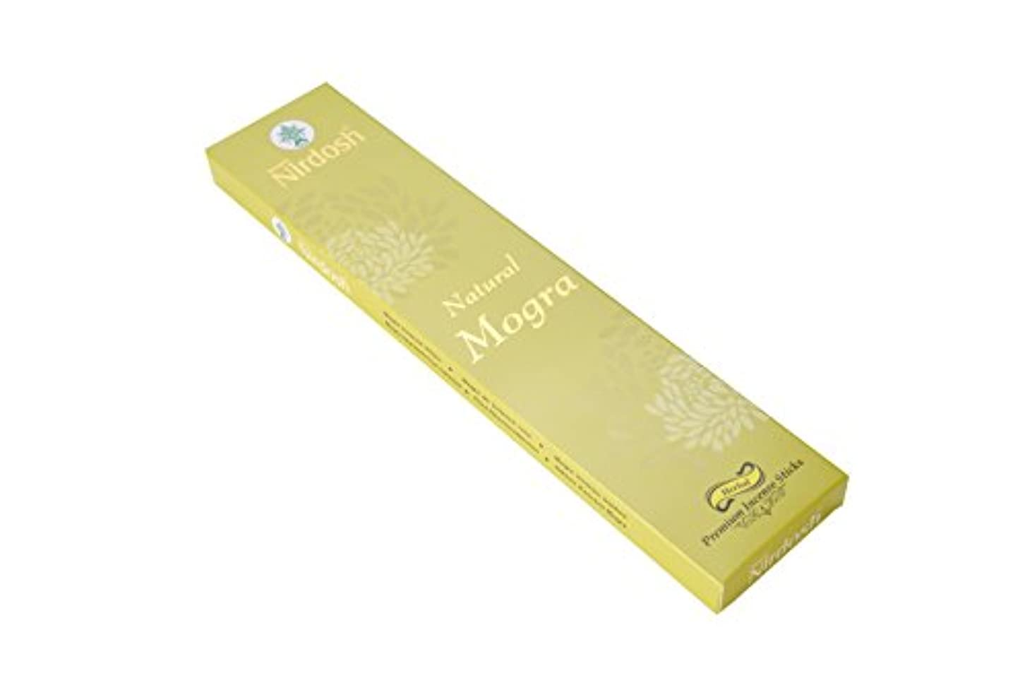 Nirdosh Premium Herbal Incense Sticks – Natural Mogra味100 g。12インチLong ( Pack of 2 ) with 1 Free木製お香ホルダー