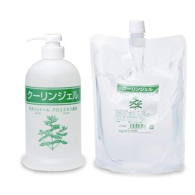 シャンプー保証菊クーリンジェル ボトル + 詰め替え用 700g