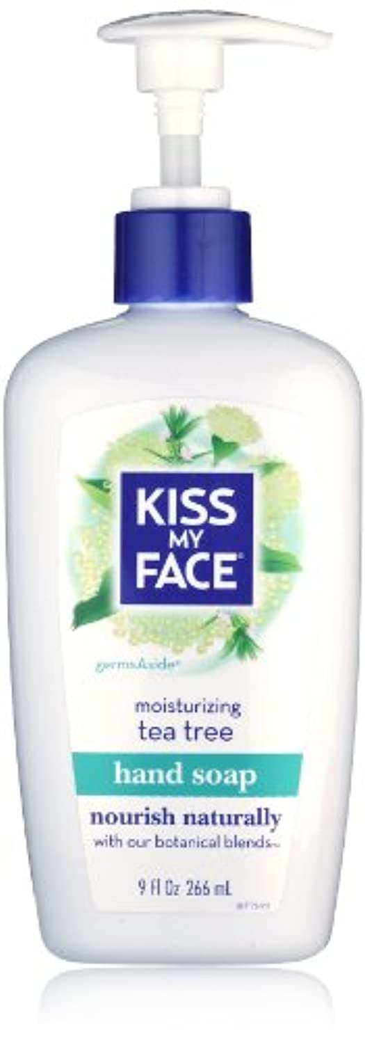 Kiss My Face Moisture Liquid Hand Soap, Germsaside Tea Tree, 9 oz Pumps (Pack of 6)