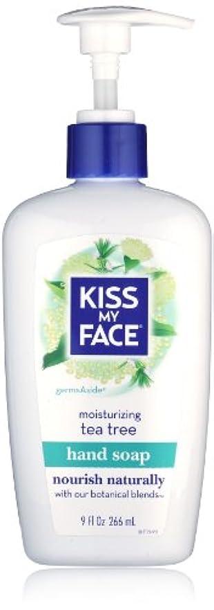 ベッツィトロットウッド費用浸漬Kiss My Face Moisture Liquid Hand Soap, Germsaside Tea Tree, 9 oz Pumps (Pack of 6)