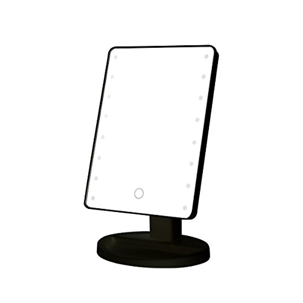 寝室少しクマノミB-PING 鏡 卓上 化粧鏡 16LEDライト搭載 女優ミラー 卓上ミラー 180度回転 電池給電 プレゼント メイク 化粧道具 メイクアップミラー