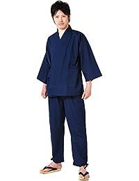 (キョウエツ) KYOETSU メンズ洗える作務衣 通年 無地 08