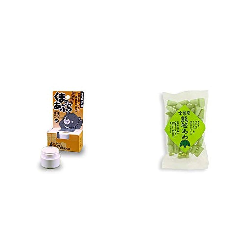 [2点セット] 信州木曽 くまのあぶら 熊油スキン&リップクリーム(9g)?木曽産 熊笹あめ(100g)