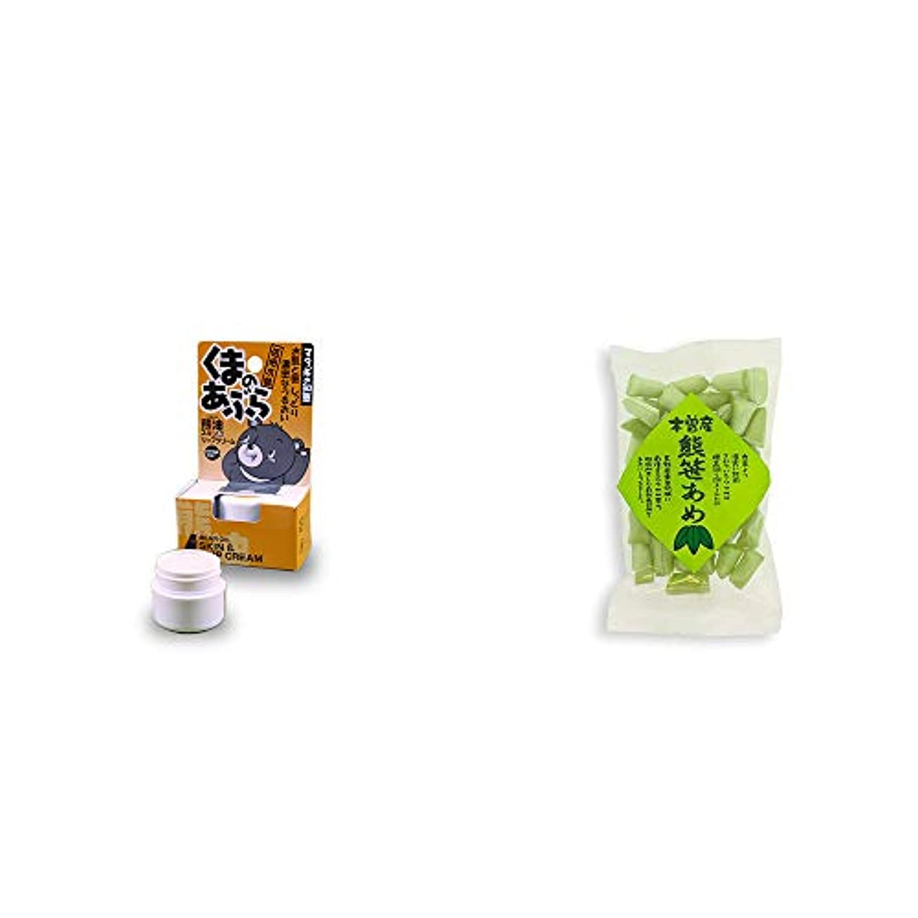 容器インタビューブランデー[2点セット] 信州木曽 くまのあぶら 熊油スキン&リップクリーム(9g)?木曽産 熊笹あめ(100g)