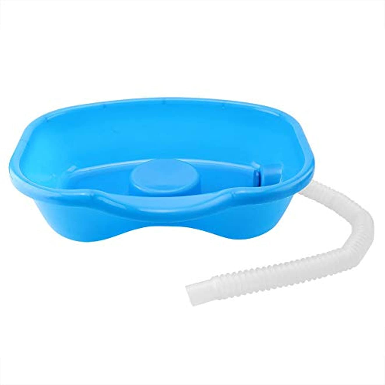三角形散歩に行く視線シャンプー洗面器、医療障害者用シャンプー洗面器厚いベッド洗髪皿プラスチックシャンプー洗面器