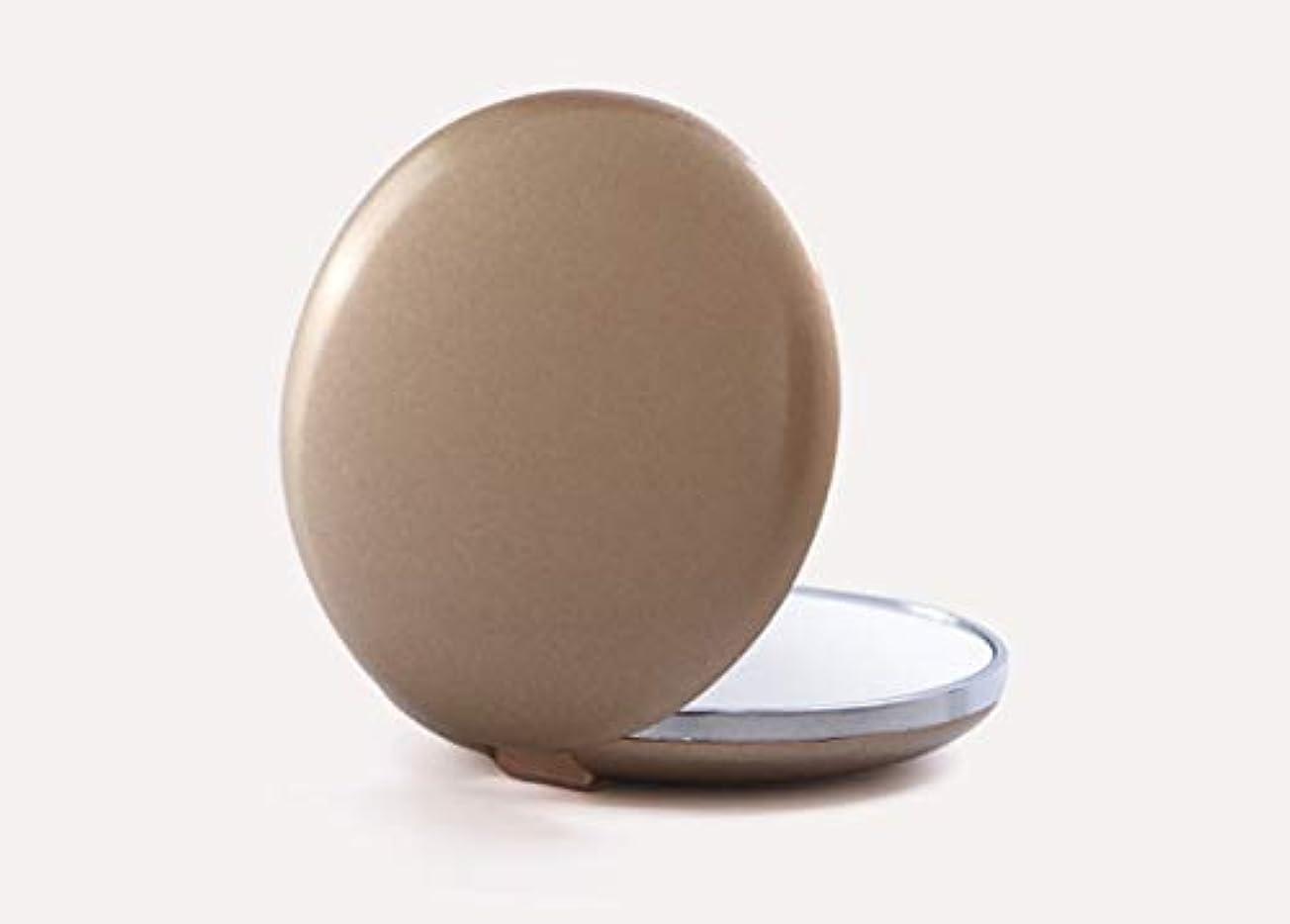光沢のあるタイプライター大理石化粧鏡、ブラウンテクスチャアップグレード化粧鏡化粧鏡化粧ギフト