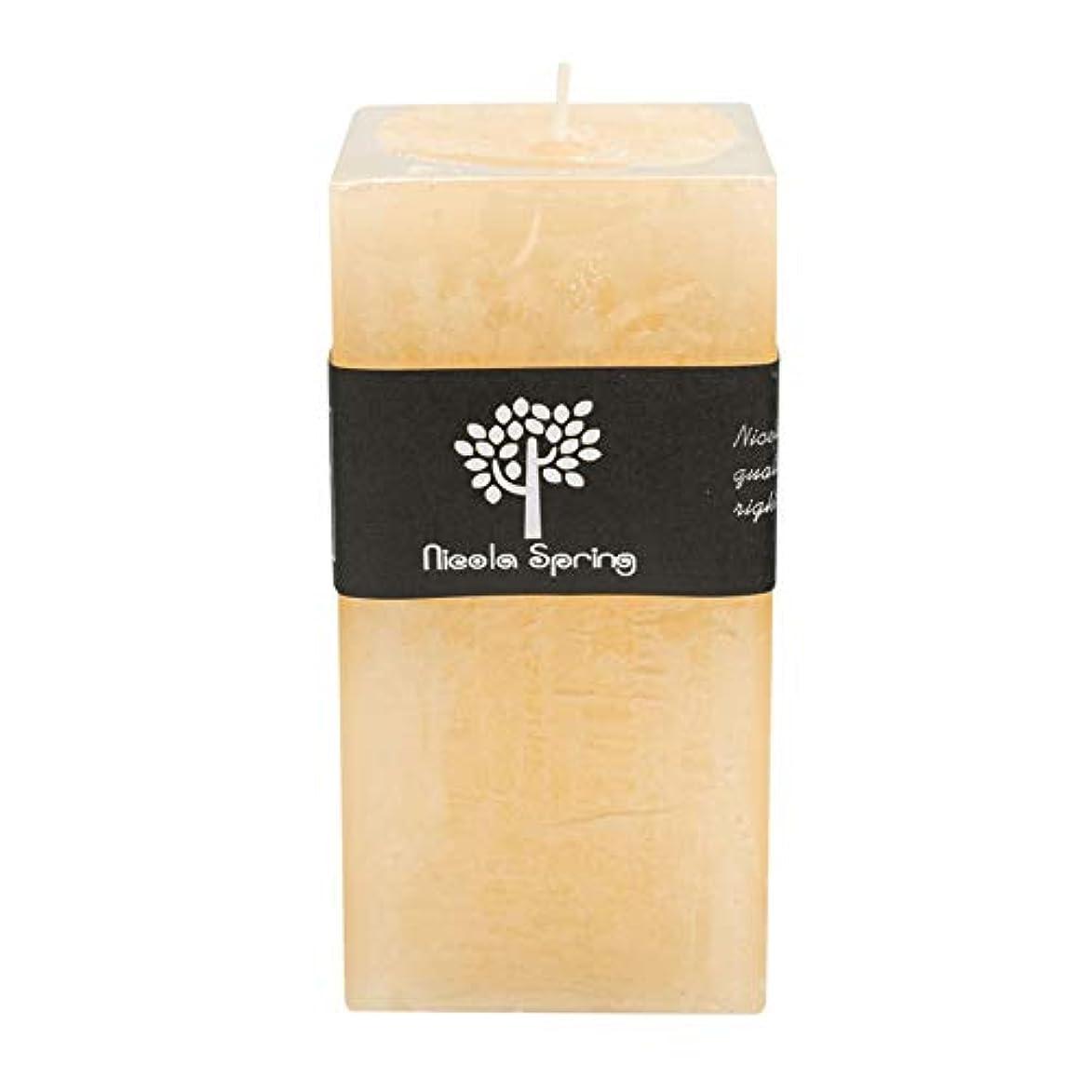 復活させるあいにく放出バニラ香りつき1 Wick Square Candle 150 x 75 x 75 mm。90hrs燃焼時間
