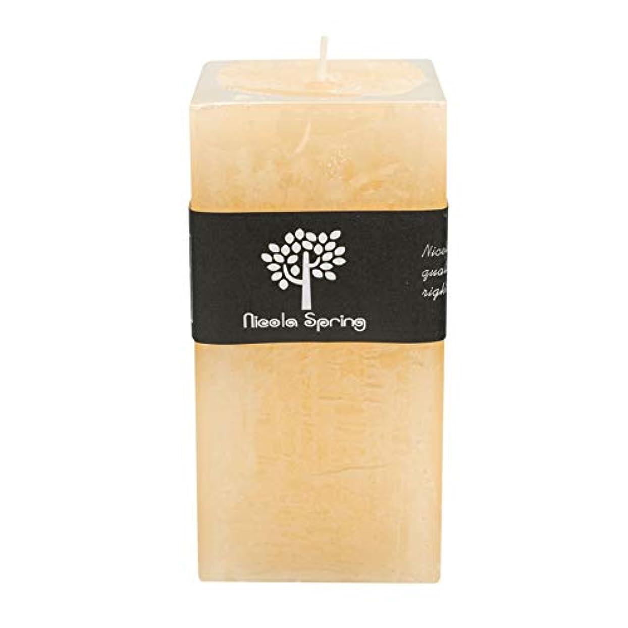 ローラーどうやって男らしさバニラ香りつき1 Wick Square Candle 150 x 75 x 75 mm。90hrs燃焼時間
