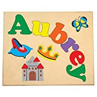 (Primary) - Personalised Princess Name Puzzle, colour: Primary