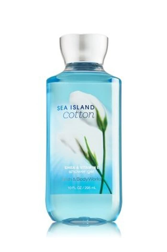 レンチベルベット追う【Bath&Body Works/バス&ボディワークス】 シャワージェル シーアイランドコットン Shower Gel Sea Island Cotton 10 fl oz / 295 mL [並行輸入品]