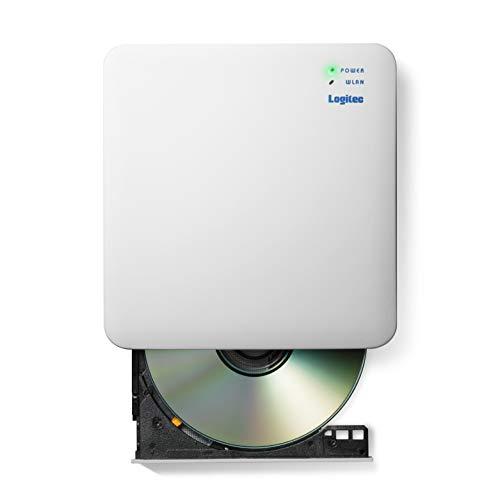 『ロジテック 音楽CD取り込みドライブ WiFi 2.4Ghz対応 11n iOS/Android対応 USB2.0 ホワイト LDR-PS24GWU3RWH』のトップ画像