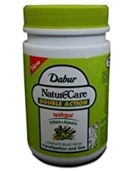 Dabur Naturecare Double Action Isabgol Husk Effective Relief From Gas,constipation 100 Grams by Dabur [並行輸入品]