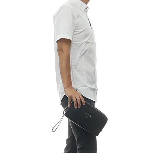e7a87296b33f (プラダ) PRADA メンズクラッチバッグ/セカンドバッグ 2NE013 064 ブラック [並行輸入品]