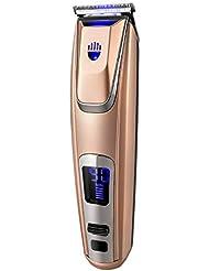 バリカン男性専門の電気バリカン、再充電可能な無線スタイリング用具は表示多機能のヘアトリマーを導きましたバリカン