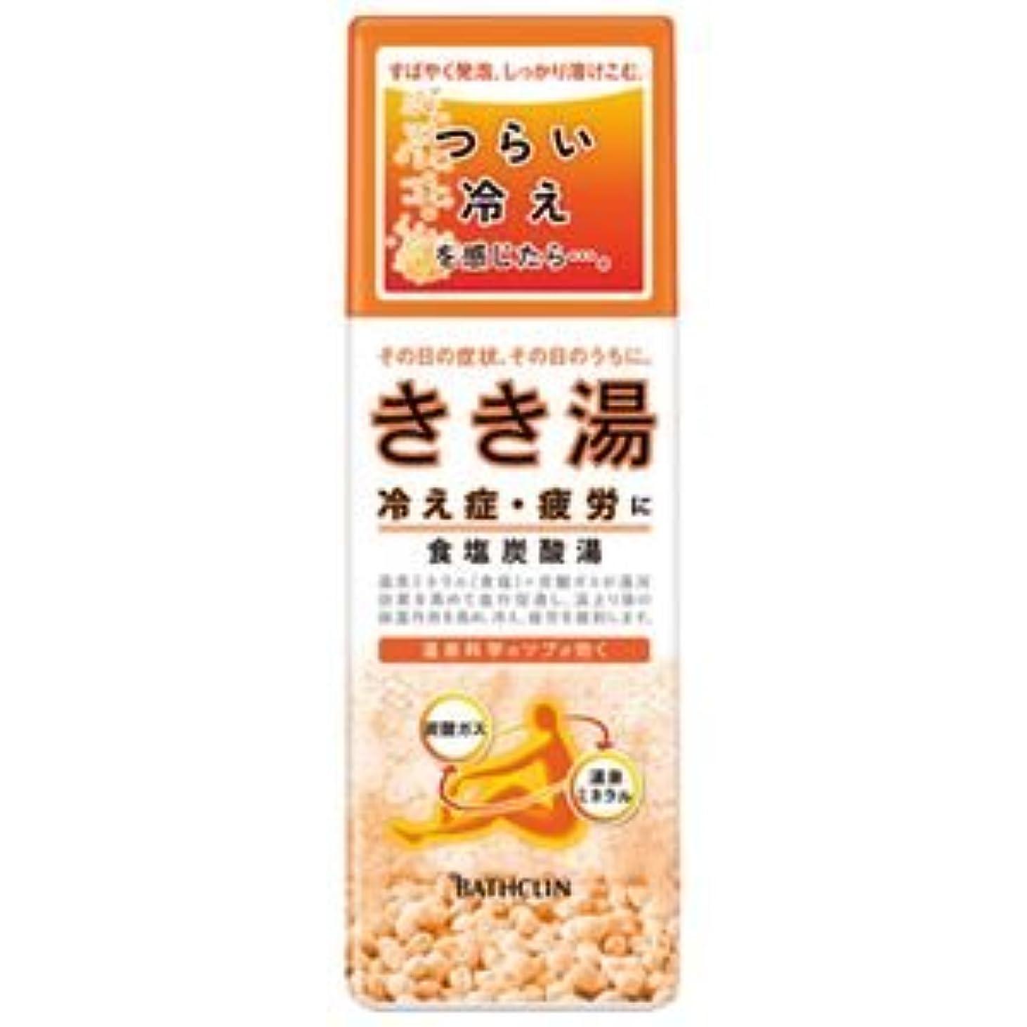 ナイロン雑多なハンディ(業務用10セット) バスクリン きき湯 食塩炭酸湯 360g