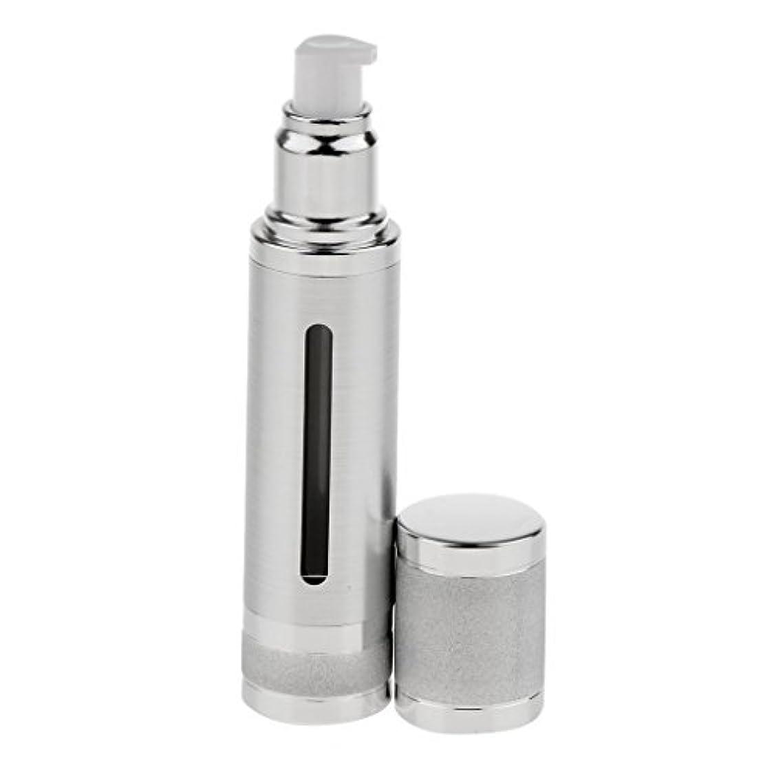 救援チェスをする特権エアレスボトル 50ml エアレス ポンプボトル ローション クリーム 化粧品 詰め替え可 容器 2色選べる - 銀