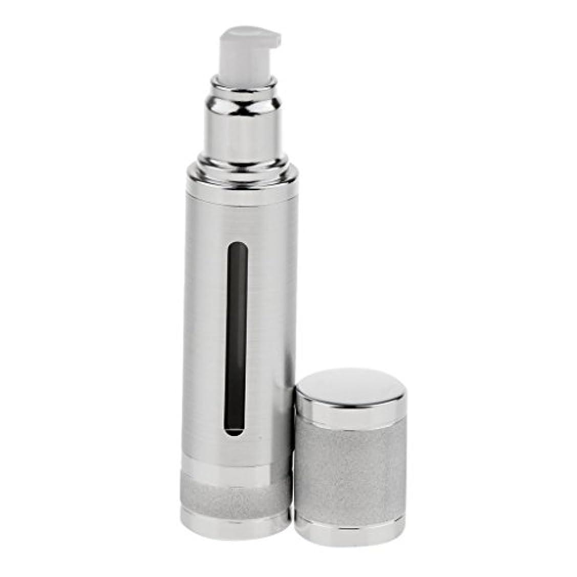 船尾修士号トリッキーエアレスボトル 50ml エアレス ポンプボトル ローション クリーム 化粧品 詰め替え可 容器 2色選べる - 銀