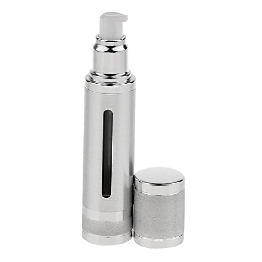 人ヒゲ領収書Kesoto エアレスボトル 50ml エアレス ポンプボトル ローション クリーム 化粧品 詰め替え可 容器 2色選べる - 銀