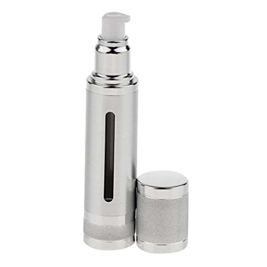 玉発疹メンテナンスKesoto エアレスボトル 50ml エアレス ポンプボトル ローション クリーム 化粧品 詰め替え可 容器 2色選べる - 銀