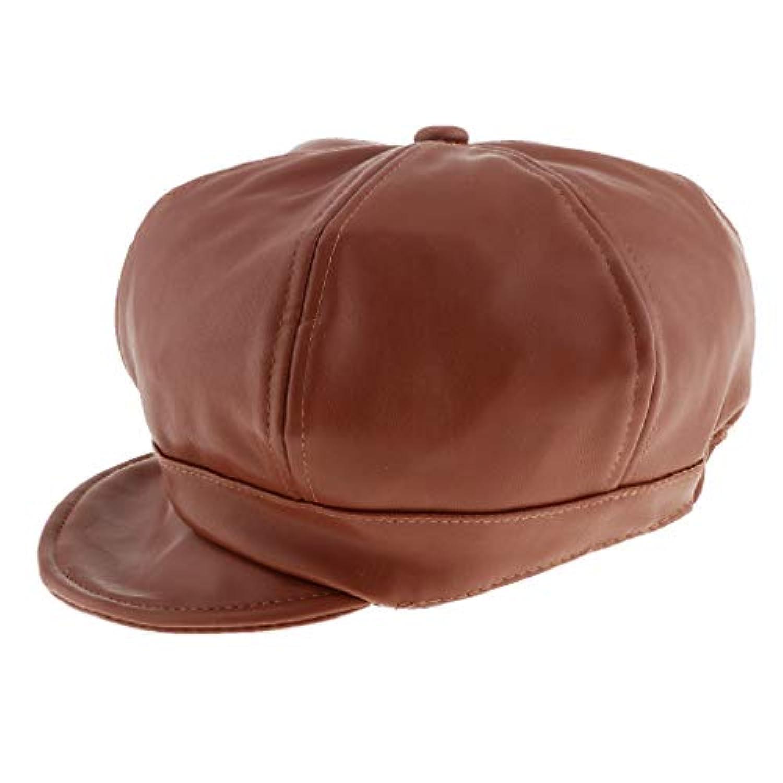 B Blesiya ベビー PU製 フラット 帽子 キャップ ハンチング ハット ベレー帽 ハンチング帽 全3色
