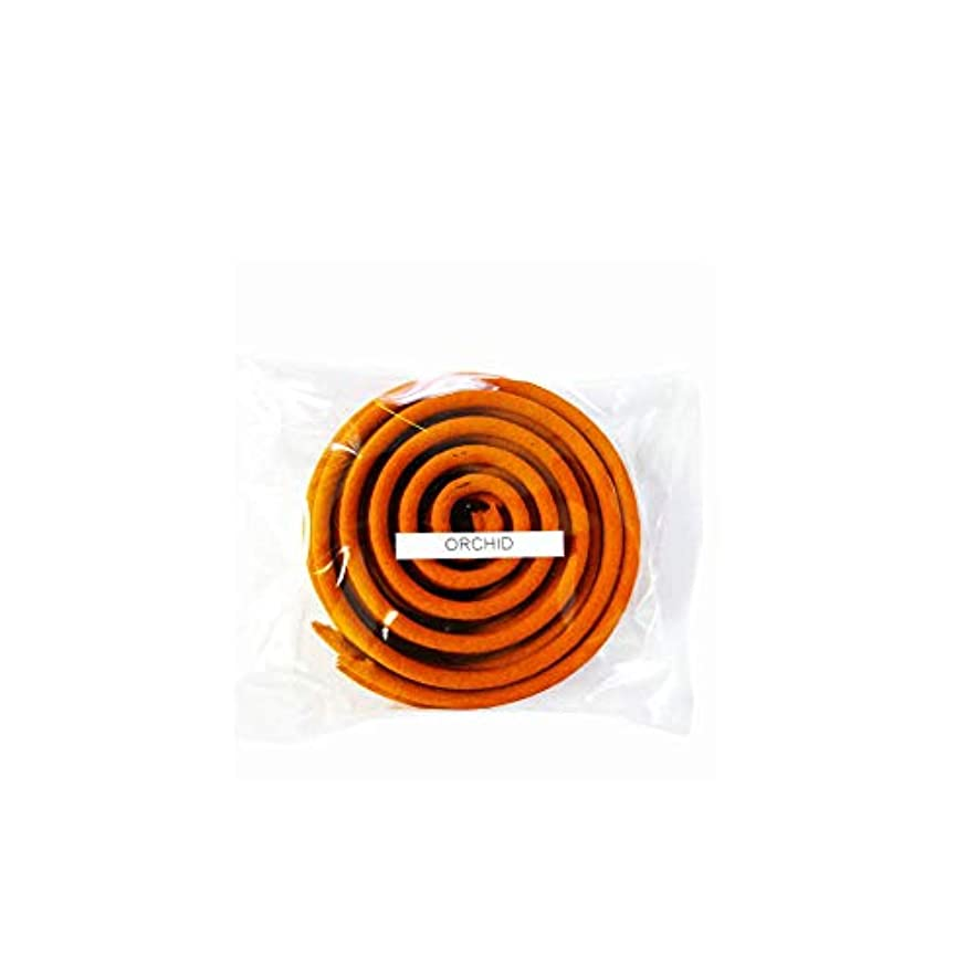 弱点オゾン地域お香/うずまき香 ORCHID オーキッド 直径6.5cm×5巻セット [並行輸入品]