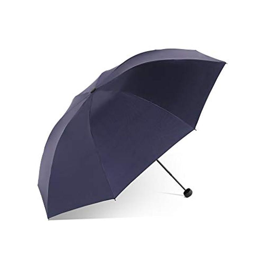 巨大もろい矢日傘、自動開閉開閉移動傘強化換気と防風フレームポータブルコンパクト折りたたみ式軽量設計と高風抵抗(赤) (Color : Dark blue, Size : L)