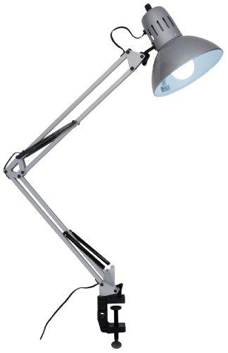 RoomClip商品情報 - ヤザワ (省エネタイプ)電球型蛍光灯A型60Wタイプ昼光色を使用したクランプ式アームライト シルバー CFEA60ED28SV