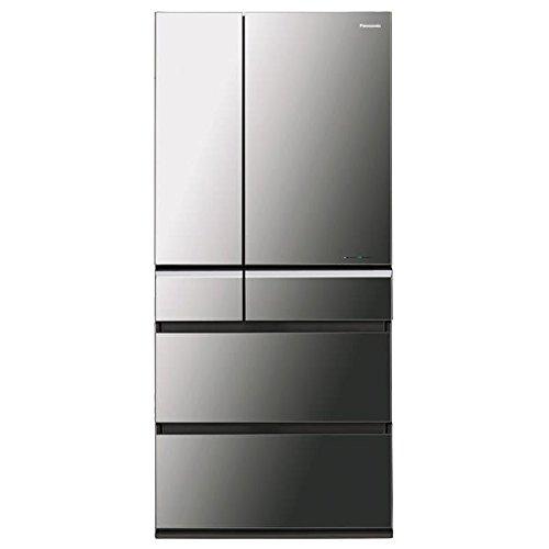 パナソニック 665L 6ドア冷蔵庫(オニキスミラー)Panasonic ナノイー エコナビ NR-F672XPV-X