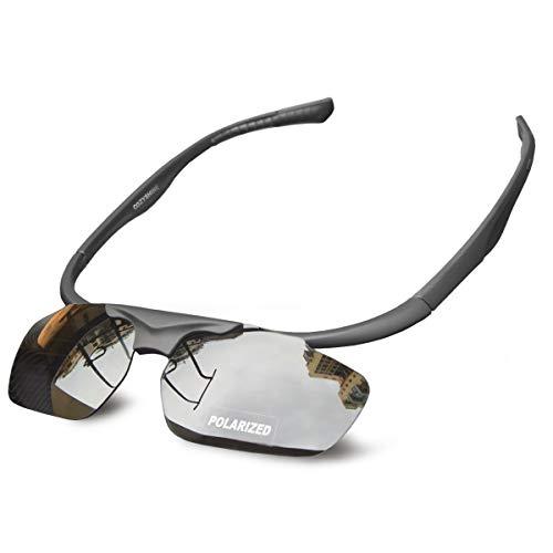 光自在 Cozyshine ® サングラス 偏光 跳ね上げ式レンズ スポーツサングラス 流線型フレーム 度付きインナーフレーム 超軽量 超抗圧 UV400紫外線カット 偏光サングラス ドライブ 運転用 くもり止め