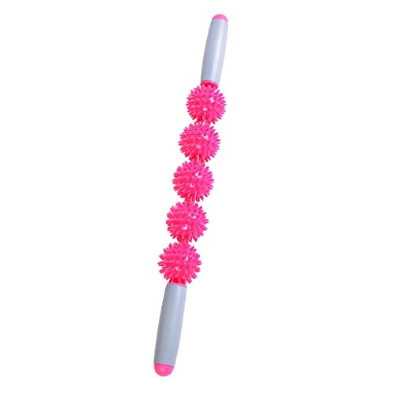 フランクワースリー繊維血まみれのdailymall マッサージスティック トリガーポイント 筋膜リリース マッサージ棒 4タイプ選べ - ピンク 50cm