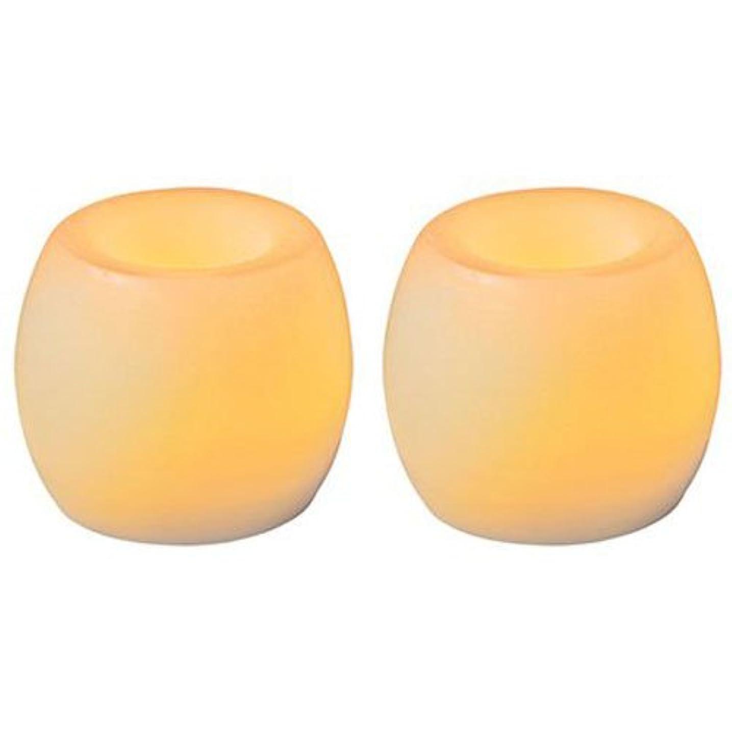 女性過去レコーダーInglow Flameless Mini Curved SquaresバニラScented Candle 2 - Pack 1 ベージュ CG24101CR201