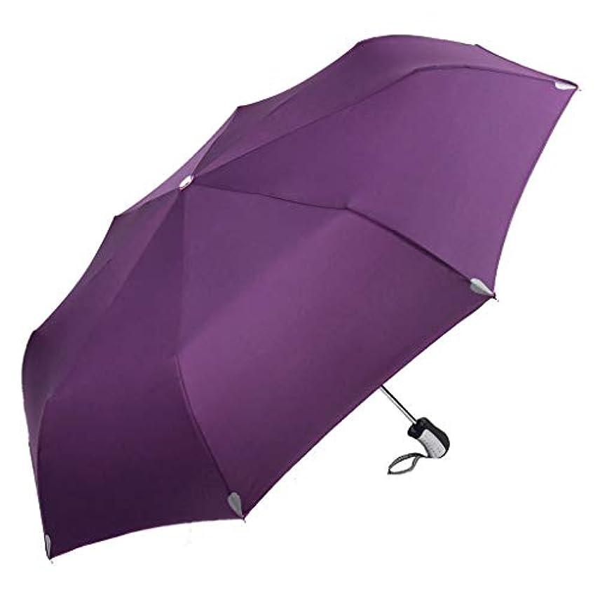 五交通ヒギンズ傘の折りたたみ傘抗UV太陽の傘パラソル (色 : Purple)