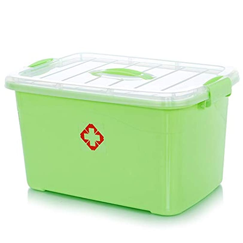 刈るキャプションクラック家庭用薬箱多層赤ちゃん薬薬収納ボックス家庭用子供ミニ薬箱 薬箱 (Color : Green, Size : 40cm×22.5cm×28cm)