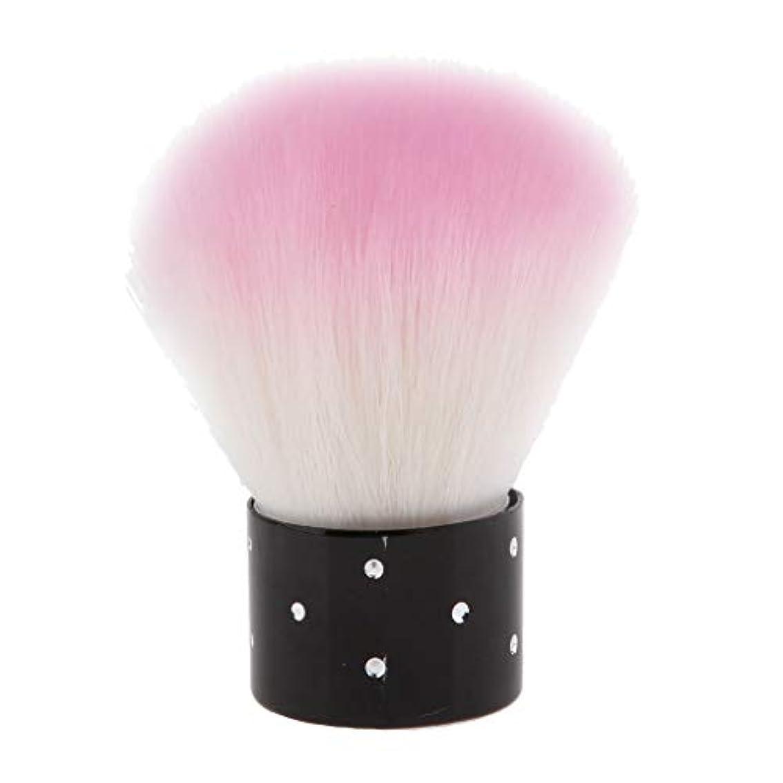 小石冬メタルラインFenteer メイクブラシ 化粧筆 チークブラシ パウダーブラシ フェイスブラシ ピンク 携帯便利 柔らかい