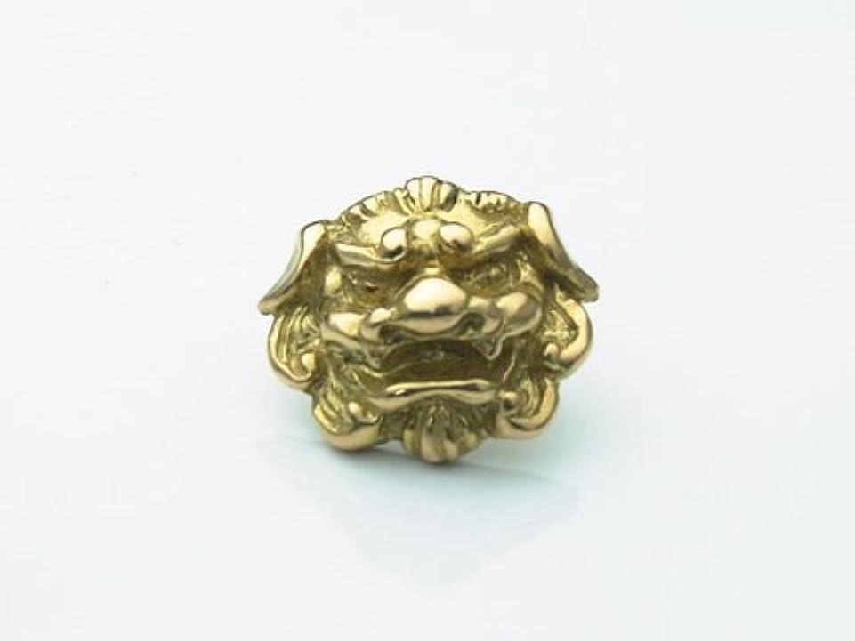 拒否外側逮捕18金製の唐獅子ピアス[和風シルバーアクセサリーLOVECRAFT(ラブクラフト)縁起物 お守り 18K メンズ 日本製