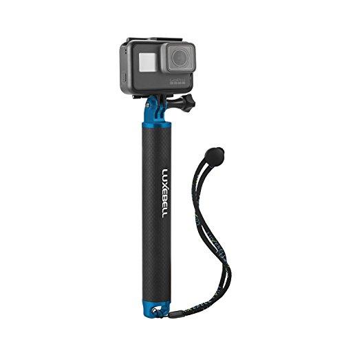 Luxebell®浮動ハンドグリップ/フローティングポール/浮き(アルミ&カーボンファイバー材料)GoPro Hero 、Hero 4セッション、Hero 4、3+、3、2、1 HD, SJCAM、SONY ACTION CAMなど1/4ねじ穴付きカメラ対応 (ブルー)