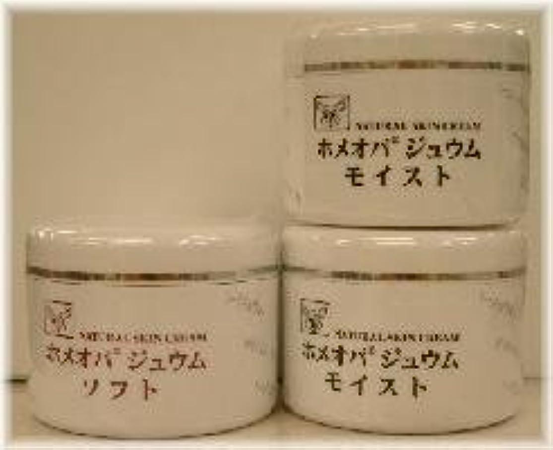書き出すジャンル活気づくホメオパジュウム スキンケア商品3点 ¥10500クリームモイスト2個+クリームソフト