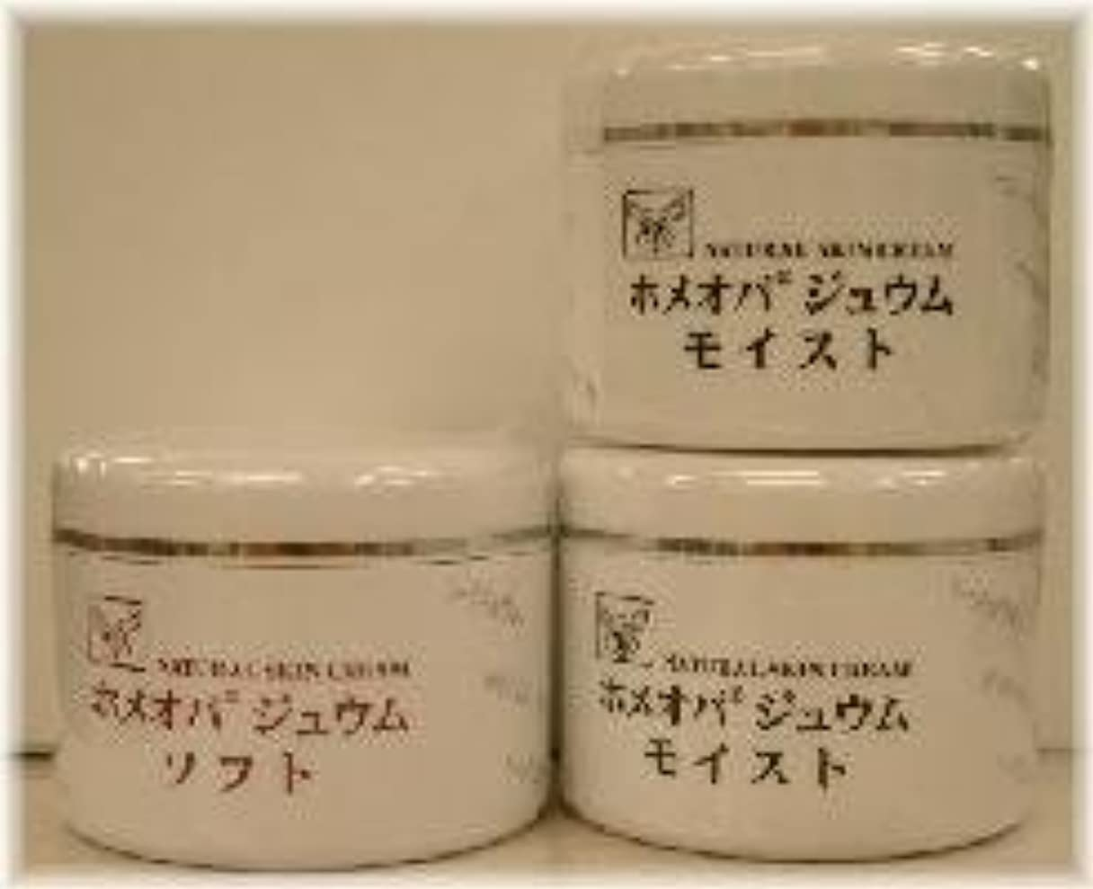 災害無視するフェザーホメオパジュウム スキンケア商品3点 ¥10500クリームモイスト2個+クリームソフト