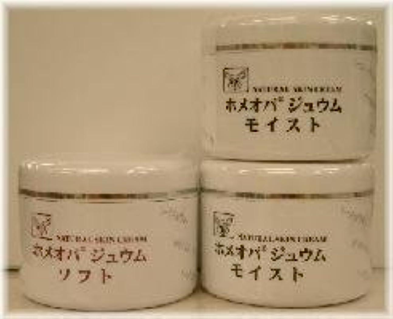 傾向発行哀れなホメオパジュウム スキンケア商品3点 ¥10500クリームモイスト2個+クリームソフト