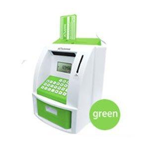 『ATMメモリーバンク(貯金箱)グリーン』カードと暗証番号で楽しく貯金!